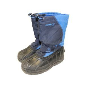 Kamik Youth Insulated Blue Snow Winter Boots